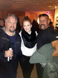 AK Waters, Julianne Moore, and Dale Comstock at Sundance