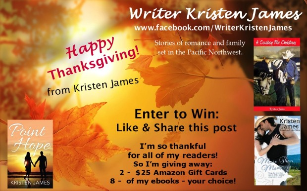 Thanksgiving Giveaway Kristen James